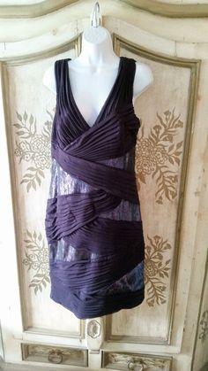 Tadashi Shoji Size 14 Royal Purple Sequined Special Occassion Dress #TadashiShoji #Formal