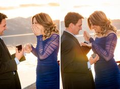 A surprise proposal at sunset in Tahoe. Best Proposals, Surprise Proposal, Blue Lotus, Photo Credit, How To Memorize Things, Sunset, Couple Photos, Photography, Wedding
