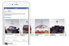 Deezer utilise l'ad format carrousel sur Facebook pour promouvoir son app