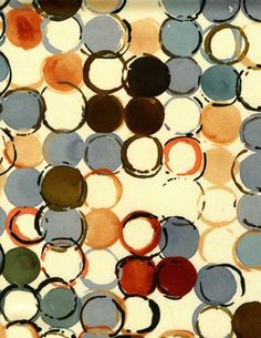 we heart art: luli sanchez dot fabric paintings  ...print geo. patterns with laundry caps, p tubes, marker/bottle caps, etc