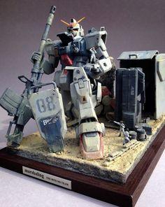GUNDAM GUY: MG 1/100 RX-78(G) Gundam Ground Type 'Marshaling' - Diorama Build