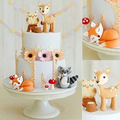 FOREST ANIMAL CAKE