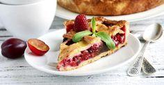 Recette de Tarte allégée aux prunes. Facile et rapide à réaliser, goûteuse et diététique. Ingrédients, préparation et recettes associées.