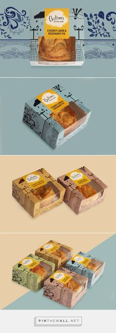 Chilton's Pie by Hanna Sutanto. Pin curated by Food Box Packaging, Bakery Packaging, Cookie Packaging, Food Packaging Design, Packaging Design Inspiration, Brand Packaging, Bakery Design, Food Design, Food Branding