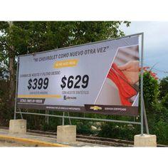 Una lona más colocada sobre estructura para nuestros amigos de Chevrolet, como anuncio publicitario!✨ #Litek #ExpertosEnImpresión #PiensaRojo #impresion #decoracion #vinil  #lona #anuncio #imprenta #invitaciones