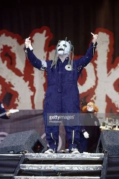 Slipknot on stage at the Reading Festival 2002; 25th August 2002;