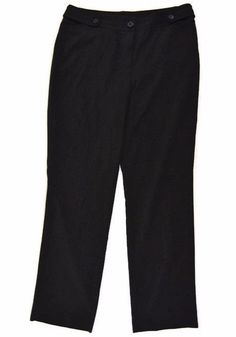 "Larry Levine Womens Size 10 Black Dress Pants Slacks Career Trousers 30"" Inseam #LarryLevine #DressPants"