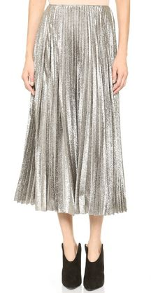 Cedric Charlier Pleated Maxi Skirt $1560 via ShopBop