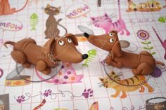 Sausage dog cake toppers