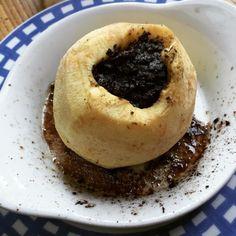 cuisinedemememoniq:  Pomme fourrée au boudin noir #pomme #boudin...