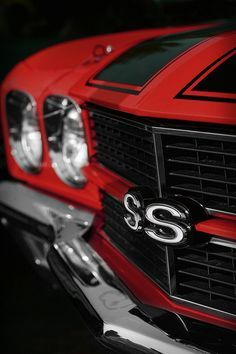 1970 Chevelle Ss 396 Red Photograph by Gordon Dean II 1970 Chevelle Ss, Chevrolet Chevelle, Chevy Muscle Cars, Mustang Cars, American Muscle Cars, Cummins, Corvette, Cool Cars, Classic Cars