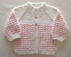 Pink Baby Sweater Set Girl Hand Knit..