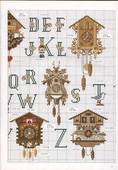 cuckoo clocks alphabet chart (part 2)