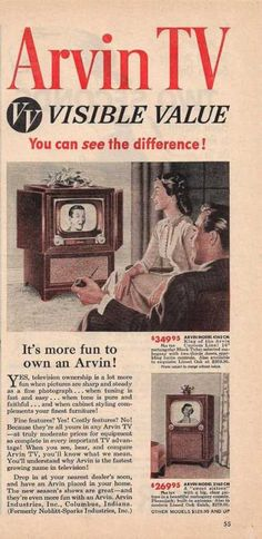 Arvin Television Visible Value (1950)