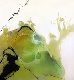 """In """"A bigger message"""" David Hockney si scaglia contro la pittura astratta: """"Come è possibile continuare a farla? Non può portare da nessuna parte"""". Forse non conosce l'Albanese di Bologna.Eldi Veizaj, Senza titolo. Acquerello e carboncino su tela, 163x183cm, 2011."""