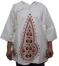 d5461be9df5 Dashiki African Shirts Mens Vintage Hippie Mud Cloth Boho Tops Blouses One  Size  Handmade