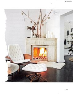 Fireplace, white