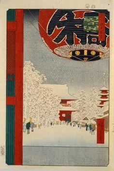 Kinryusan Temple at Asakusa by Ando Hiroshige