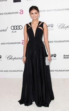 Oscar 2012 alfombra roja fiesta Elton John: Nina Dobrev de J.Mendel