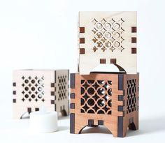 #Tea Light Holder Wood Tea Light Holder Wooden Tea Light by AKLaser, $15.00