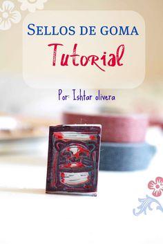 Tutorial para crear sellos con bloques de goma (en Argentina hoy no los venden) o gomas de borrar. El material es muy fácil de usar y se logran muy buenas estampas.