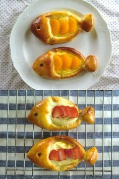 さかな形のクリームパン