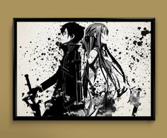 Sword Art Online Kirito Watercolor Print 8x10 Archival Print - Art Print - Wall Decor Art Poster on Etsy, $22.54 CAD