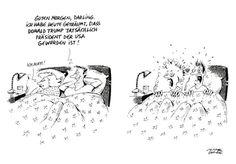 """OÖN-Karikatur vom 11. November 2016: """"American Dream"""" Mehr Karikaturen auf: http://www.nachrichten.at/nachrichten/karikatur/ (Bild: Mayerhofer)"""