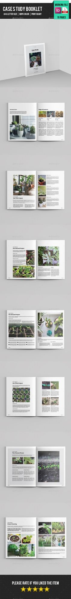 Case Study Booklet Design| Indesign Template - Corporate Brochure ...