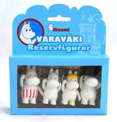 Moomin Small Plastic Figures Set Martinex Finland 4 pcs