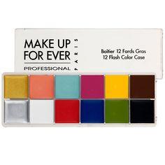 Sombra Flash Color Palette, da Make Up For Ever: Paleta com 12 cores vibrantes, para criar uma grande variedade de looks. Ideal para viagem,...