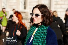Chic white frames. Seen at the London Fashion Week. #ShadesofFashionWeek #sunglasses
