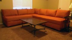 DIY couch, wonder if it's cheaper to make it or buy one new since the foam for the cushions can get pricey