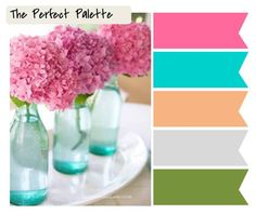 Spring is almost here http://www.theperfectpalette.com/2012/03/5-color-inspiring-wedding-centerpieces.html