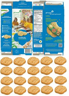 doll sized girl scout trefoils cookie box with matching cookies to fill it!