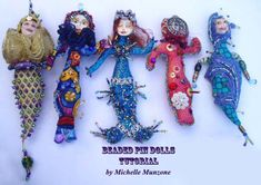 Makeyour own BEADED Pin or Hanging Art Dolls with this TUTORIAL/Workshop by michelledolls, $25.00