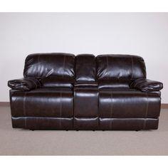 Red Barrel Studio Stouffer Genuine Leather Mahogany Sofa
