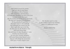 Loss of a Daughter Sympathy insert on Craftsuprint designed by Lorraine Appleby - Sorry that you need this insert but I hope the words will help the mourning of the loss of the Daughter. I have also designed a sheet with two Sympathy card fronts that is appropriate for the loss of a child. - Now available for download!