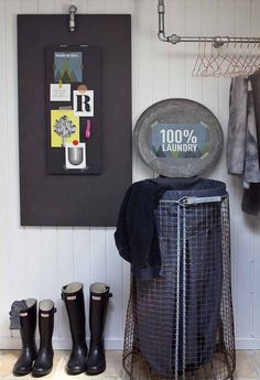 Nice laundry basket :D Interior Design Living Room, Living Room Designs, Pantry Laundry Room, Design Your Own Home, Small Room Bedroom, Decoration, Home And Living, Home Goods, Sweet Home