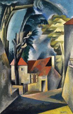 André Lhote - près de Boissiérette (Lot), là où habite, alors, Roger Bissière - 1921