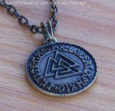 WOTANSKNOTEN RUNIC VALKNUT Bronze Double by ArtisanWitchcrafts, $25.95