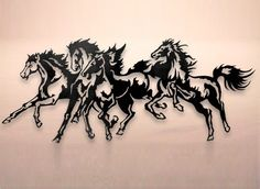 Horse Stampede Metal Wall Art I think this is a great idea for a tattoo
