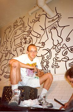 Keith Haring's Most Risqué Mural Is Hidden in a Public Bathroom
