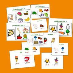 5788c02d268 Recursos para el aula  Fichas de Lengua Fichas para trabajar el vocabulario  con rimas.