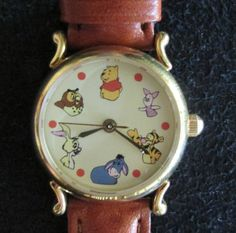 Winnie The Pooh and Friends Brown Leather Watch