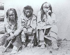 Group of Kootenai indians.