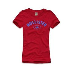 Hollister Womens/Girls T-Shirt in Red - New Season (Small) Hollister Tshirts, Hollister Clothes, Hollister Tops, Summer Outfits, Girl Outfits, Casual Outfits, Comfy Dresses, 3, Amazon