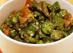 Healthy Indian Food & Recipes. (Bhindi/Okra) visit: http://www.chaiacupoflife.com/healthy-indian-food #indianfood #indianrecipes