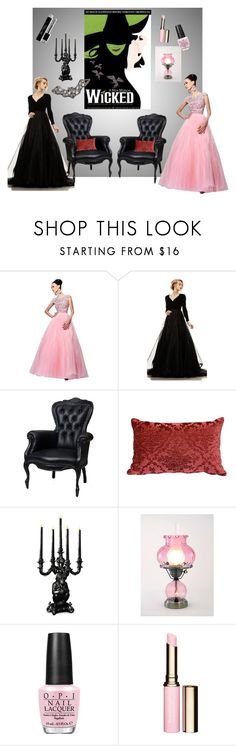 """""""Wicked! The Only Way to Wear Green"""" by sojazzed ❤ liked on Polyvore featuring Sherri Hill, Johnathan Kayne, Moooi, Summit, OPI, Clarins and Christian Dior"""