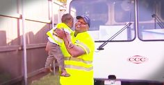 2-year-old Lance loves his family's garbage man, James. In fact, Lance even dressed up as James for Halloween and he now tells everyone that when he grows up, he is going to be a garbage man too. This adorable duo is sure to put a smile on your face!